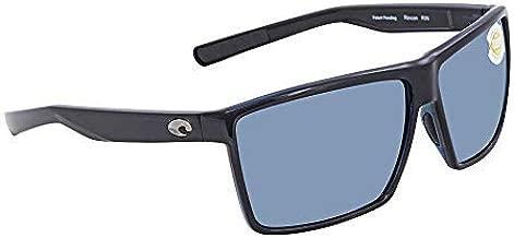 Costa Del Mar Costa Del Mar RIN11OSGP Rincon Gray Silver Mirror 580P Shiny Black Frame Rincon, Shiny Black Frame, Gray Silver Mirror 580P