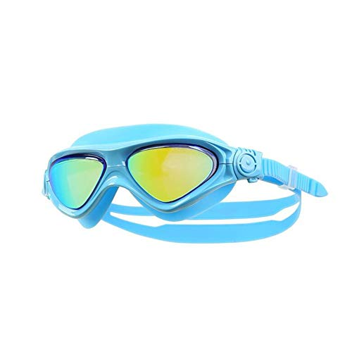 Zwembril voor kinderen, HD groot frame, waterdichte anti-fog zwembril voor jongens en meisjes pak