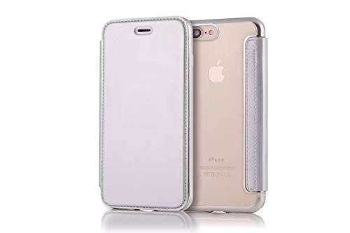 N-B Funda para teléfono móvil de Color Puro, Adecuada para Apple y Samsung, Funda para teléfono móvil, Funda Protectora de TPU galvanizada para teléfono móvil con Funda para Tarjeta