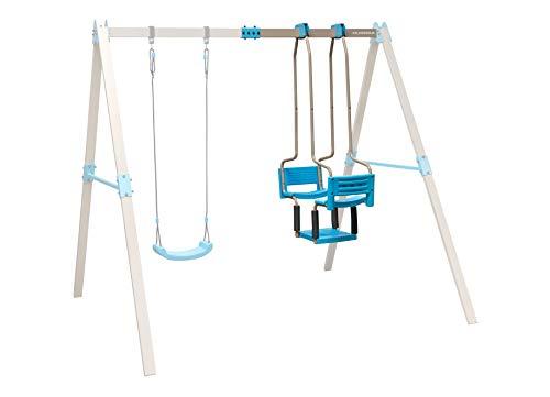 HUDORA 64026 Vario Ergänzungsmodul Gondel individuell konfigurierbare Garten-Schaukel, beige/blau