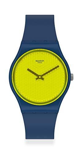 Swatch Urbaholic Correa de silicona de cuarzo suizo, azul, 16 reloj casual (Modelo: GN266)