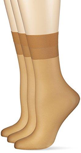 Hudson Damen 030044 Socken, 15 DEN, Beige (Skin 0014), 39/42 (3er Pack)