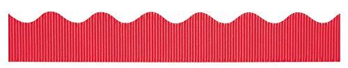 """Bordette Scalloped Decorative Border P37034, 2-1/4"""" x 50', Flame, 1 Roll"""