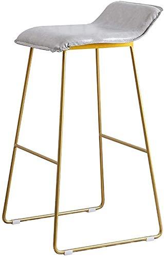Wghz Elegant Home D & Eacute; COR Leisure Barhocker Fußstütze Handgewebte Rattan-Barstühle mit Rückenlehne auf Metallfuß für Innen- und Außenhöhe 65 cm Modernes Design - Höhe 75 cm
