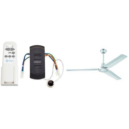 Westinghouse - Ventilador industrial, color plata + mando a distancia por infrarrojos