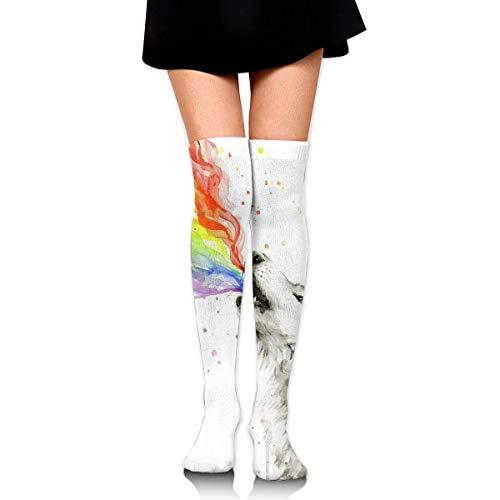 Funky - Calcetines largos hasta la rodilla, adecuados para senderismo, correr, fútbol