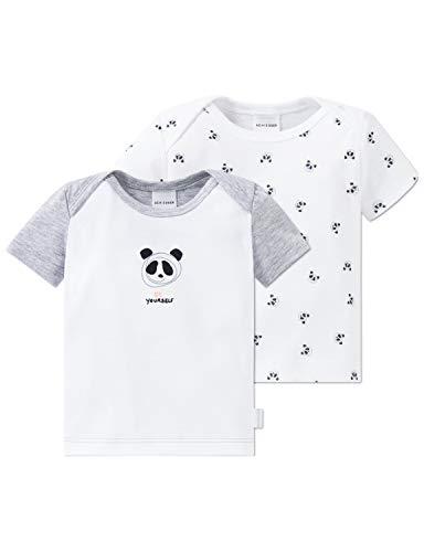 Schiesser Unisex Baby Multi-Pack 2pack Shirts 1/2 Schlafanzugoberteil, Mehrfarbig (Sortiert 1 901), 80 (Herstellergröße: 080) (2er