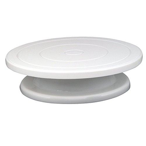 Draaibare wandhouder taartplaat voor het versieren van taarten plateau Accmart briefpapier en enveloppen display met standfunctie in wit