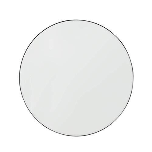 Nordic smeedijzeren spiegel muur opknoping zwarte rand ronde badkamer woonkamer slaapkamer wastafel spiegel