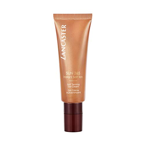 LANCASTER Sun 365 Instant Self Tanning Gel Cream, Instant-Gesicht-Selbstbräuner, natürliche Bräune, Gel-Creme, 50 ml