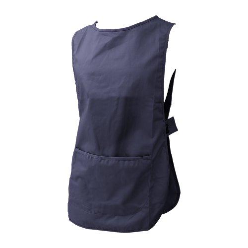 Dennys Damen/Frauen Überzieh Schürze / Küchen Arbeitskleidung (M) (Marineblau)