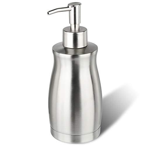 ARKTEK Dispensador de jabón 400ML, Botella de Acero Inoxidable Curvada única, dispensador de jabón de baño a Prueba de Herrumbre, Adecuado para dispensador de jabón de Manos de Cocina