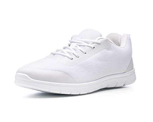 Alpine Swiss Bolt Mesh Sneaker Casual Light Shoes for Men or Women with Shoe Bag White 12 M US