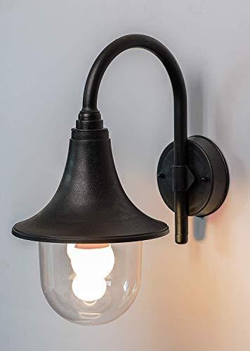 ZEYUN Rétro Applique Murale exterieur Vintage Lampe Murale Industriel Lampe E27 Base pour Bar, Chambre à Coucher, Cuisine, Restaurant, Café, Couloir,Noir