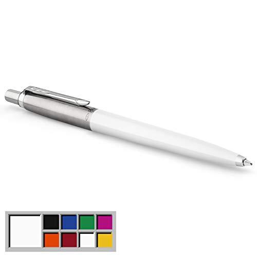 Parker Jotter Originals Kugelschreiber | Klassisches Weiß | Mittlere Spitze | Blau Tinte