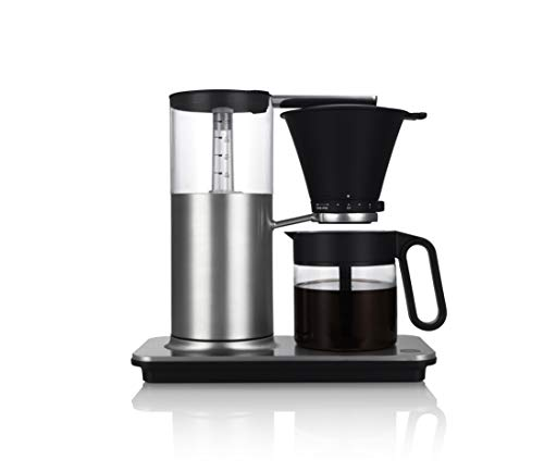 Wilfa CLASSIC Cafetera de goteo - Con sistema antigoteo manual, función de apagado automático, capacidad de 1 litro, plateada