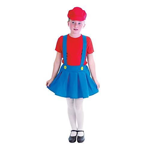 Plombiers Mate - fille - enfants Costume de déguisement - Grand - 134cm à 146cm