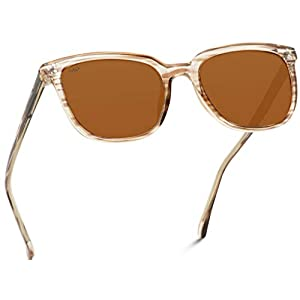 WearMe Pro – Classic Polarized Square Flat Retro Unisex Men Women Sunglasses
