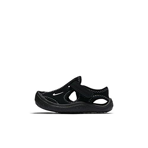Nike Boys Sunray Protect (TD) Toddler Sandal Black/White 8c