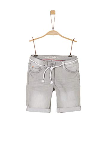s.Oliver RED Label Mädchen Slim Fit: Bermuda-Jeans Grey 164.REG