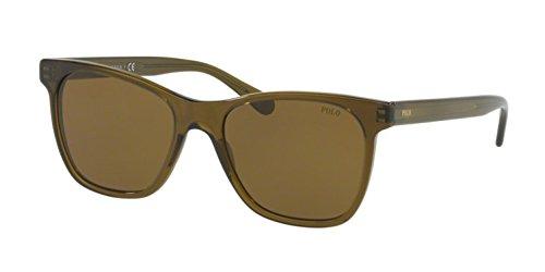 Polo Ralph Lauren Herren 0PH41286173 Sonnenbrille, Grün (Transparent Olive/Brown), 54