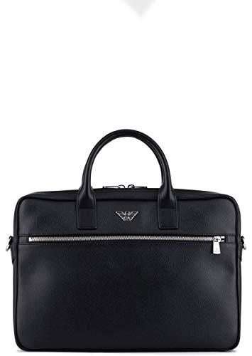 Emporio Armani Herren Logo Briefcase Ranzentasche Schwarz ONE Size