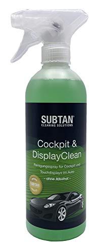 SUBTAN Cockpit & DisplayClean Spray 500 ml para la limpieza de salpicadero y pantallas táctiles en el coche