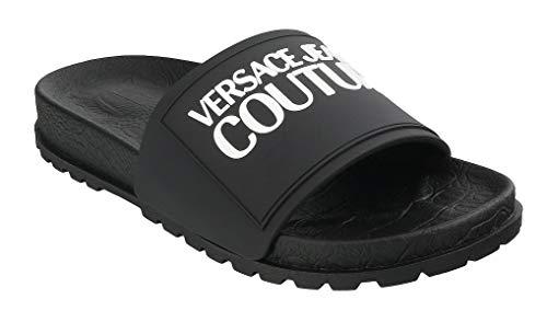 Versace Jeans Couture Slipper, schwarz, für Damen, E0VVBSQ2-LINEA, Unterseite, Slide, Dis.60 71353 899 Gummy Mould Größe 41