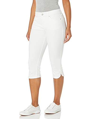 Gloria Vanderbilt Women's Comfort Curvy Skinny Jean Capri Length, Vintage White, 6