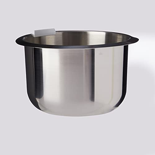 Bosch Edelstahl-Schüssel MUZ4ER2, 3,9 Liter, max. Teigmenge 2,7 kg, geschmacksneutral, lebensmittelecht, spülmaschinengeeignet, passend für MUM4 Küchenmaschine