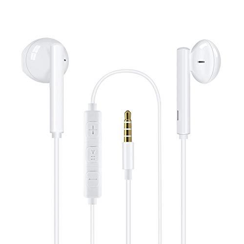 MOYAGOA In Ear Kopfhörer für Phone mit 3,5 mm Kopfhörerstecker Stereo Ohrhörer mit Mikrofon Noise Isolating Headsets Ohrstöpseln Kompatibel mit Phone
