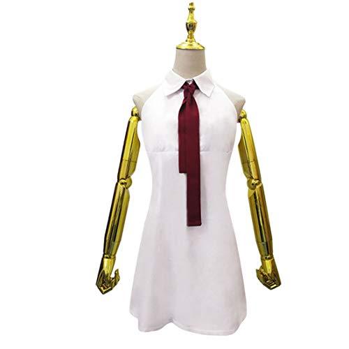 YYFS Traje de Anime Cosplay, Uniforme de Fiesta de Halloween, Vestido Blanco para Damas Masquerade Party,White-X-Large