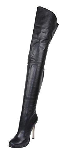 AROLLO Lange Overknee Crotch Stiefel Queen (44)