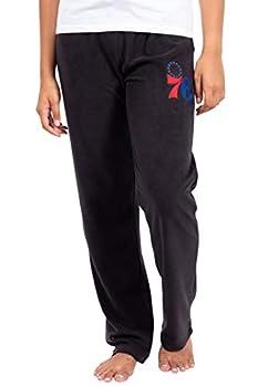 Ultra Game NBA Philadelphia 76ers Womens Sleepwear Super Soft Plush Pajama Loungewear Pants Black Large
