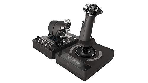 Logitech G X56 H.O.T.A.S Schubregler & Stick-Controller für Weltraum-Simulationen, 6 Freiheitsgrade, 4 Federoptionen, 189+ Programmierbare Befehle, RGB-Beleuchtung, 2x USB-Anschluss, PC - schwarz