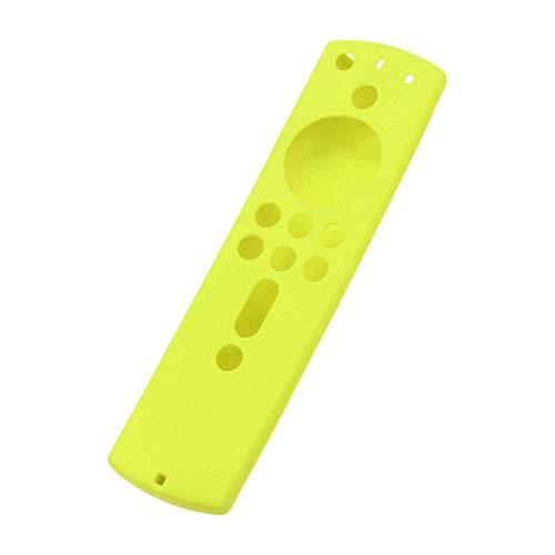Newest!!!Case Kompatibel mit Amazon Fire TV Stick 4K, Nourich TV Stick Remote Silikon Hülle Schutzhülle Haut,Silikonhülle Anti Slip Fernbedienung Leichte rutschfeste Cover Schutz 5.6Inch (Gelb)