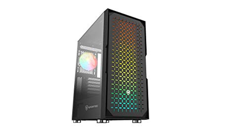 Nfortec Surtur - Torre Gaming ATX RGB con Frontal Mallado, Cristal Templado y 4 Ventiladores Incluidos - Color Negro