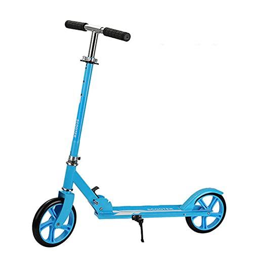 AFSDF E-Scooter para Adultos para la Scooter eléctrica de cercanías para niños de 6 a 12 años Arranque y Sensor de Gravedad para niños Plegables y Ligeros,Azul