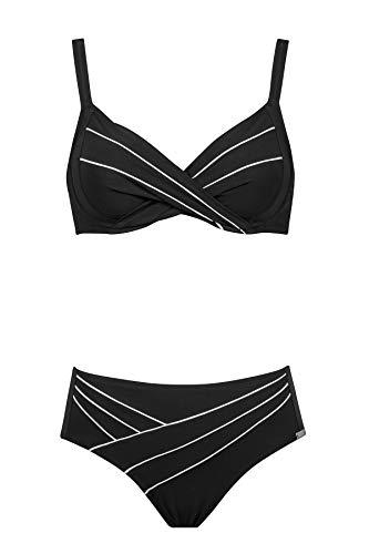Charmline Bikini - Badeanzug fur Frauen MOD.2092 dess. 845 col. 077 Black-White (DE 46C, 077 Black-White)