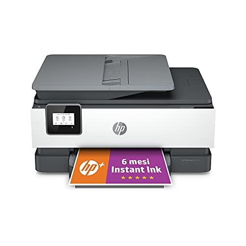 Stampante Multifunzione HP OfficeJet 8012e - 6 mesi di inchiostro inclusi con HP+