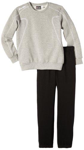 Lotto Sport Jungen Trainingsanzug Suit Shield FL Cuff JR, Mel.dk Grey/blk, L, N5470