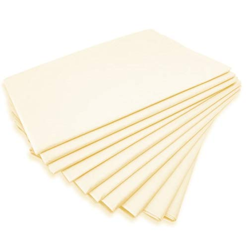 Clinotest Kappenlaken zweiseitig 160x230+30+30 cm, pastellgelb, 1 Stück, 100% Baumwolle, auch für Abdeckungen / Tischdecken / Fangolaken