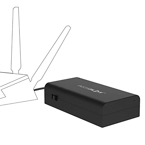 (Renewed) INSTAPLAY UPS for WiFi Router- Uninterrupted Power Backup for 12V/2A WiFi Router, Intercom, CCTV, Set top Box Designed by IIT Alumni and Made in India, Black (Insta UPS 120)