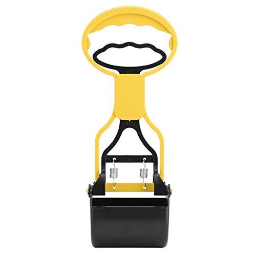DAUERHAFT Pet Poop Scooper, robuster und langlebiger, glatter und bequemer Griff, Hundehundewerkzeug(Yellow)