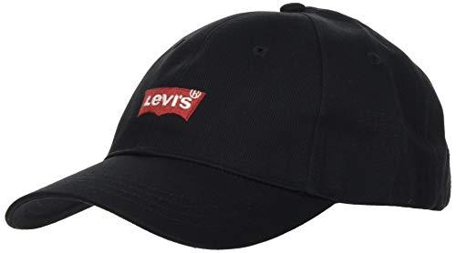 Levi's Herren MID Batwing Ball Cap Twill SOLID Schirmmütze, Schwarz (Regular Black 59), one Size