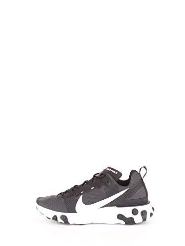Nike React Element 55, Zapatillas de Running para Hombre, Negro (Black/White 003), 42 EU