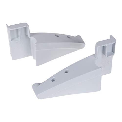 DL-pro Set supporto pannello laterale destro e sinistro per ripiano portabottiglie adatto al frigorifero Liebherr 7438550 + 7438548