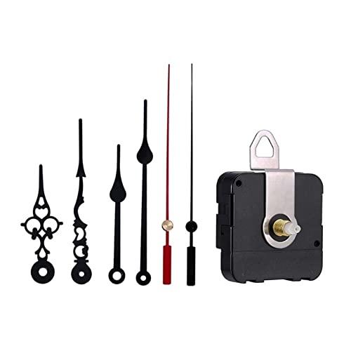HENHEN Jun Store Silencio Bricolaje Movimiento de Reloj de Cuarzo con la Hora roja de Segunda Mano Mecanismo Herramienta de reparación de Reloj de Pared Piezas de Repuesto