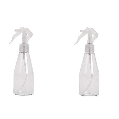 Gracy 2PCS duraderos Botellas con atomizador de plástico Transparente vacía de la Botella del Aerosol Recargable Pulverizadores salón de Belleza, Cocina, Pelo y Limpieza (200 ml), embotellado