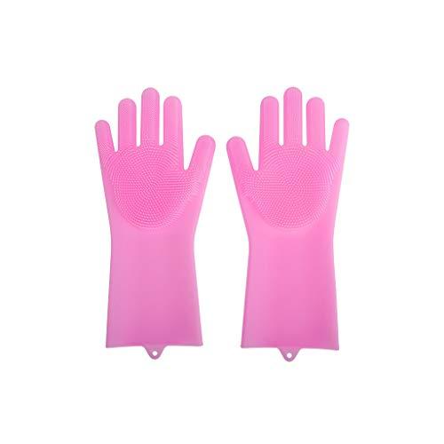 Gants En Silicone Gants Magiques, Imperméables Et Durables For Protéger Vos Mains, Adaptés Aux Soins Des Cheveux Des Animaux Domestiques Dans La Salle De Bain, 3 Paires (Color : Pink)